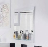 Miroir STUDIO + tablette gris largeur 60cm