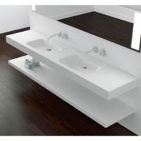 Plan toilette NANO résine blanc largeur 80cm