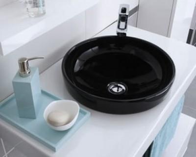 Vasque FEELING porcelaine noire pour plan