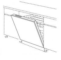 Porte basculante TWIST gris 69.7x59.7cm