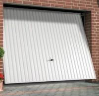 Porte de garage basculante acier blanc S/port 225x250cm