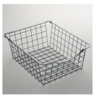 Panier fil gris rangement 13x56,8x52cm