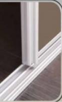 Rails haut + bas APPARENCE chêne brut largeur 152cm