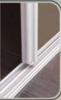 Rails haut + bas APPARENCE chêne brut largeur 118cm