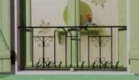 Balcon verneuil avec main courante fer 40x150cm