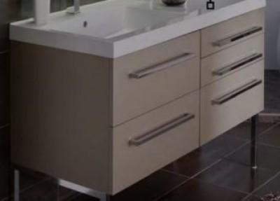 Plan-vasque DOMINO résine largeur 120cm