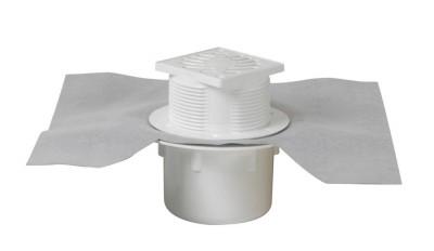 Siphon avec grille PVC 15x15 plat sortie verticale NICOLL RACCORDS & PLASTIQUES