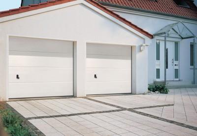 porte de garage sectionnelle edwmr 2375x2000 9016 avec serrure europro tubauto periers 50190. Black Bedroom Furniture Sets. Home Design Ideas