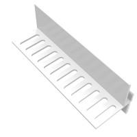 Profil de départ ventilé blanc longueur 3m  FREEFOAM PLASTICS