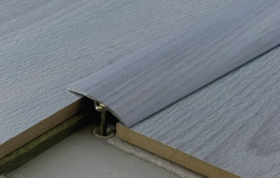 Barre de seuil harmony aluminium teck blanc 41x930mm for Barre de seuil parquet carrelage grande longueur