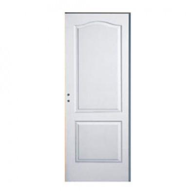 Bloc-porte postformé 2 panneaux à recouvrement 204x83cm gauche poussante huisserie sapin 72x58mm