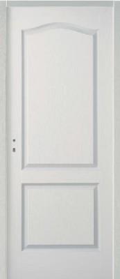 Bloc-porte postformé 2 panneaux à recouvrementisolant 204x83cm droite poussante huisserie 68x58 S3P