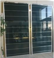 Façade de placard coulissant 2 vantaux verre incise grey 2480x2020mm COULIDOOR