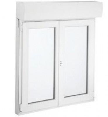 Fenêtre Oscillo Battante 1820x975mm 2 Vantaux Avec Volet Roulant