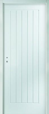 Bloc-porte 2040x830mm huisserie bois traditionnelle âme Alvéolaire 1 vantail JH INDUSTRIES - AVM