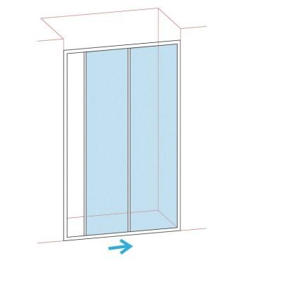Paroi de douche porte coulissante largeur 116-122cm verre transparent BASIC SEGMENT