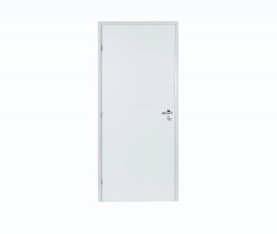 Bloc porte plane alvéolaire rectangle prépeint 204x83cm droite poussant huisserie sapin 68x58mm