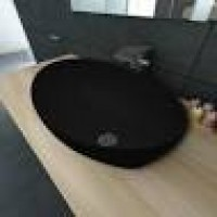 Vasque BERMUDES béton noir mat à poser