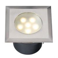 LEDA inox synthétique LED 6 blanc 70x70mm TECHMAR BV