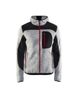 Veste tricotée gris chine noir taille XL