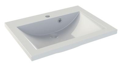Plan de toilette synthèse 70x55cm vasque blanc CALEDONIE