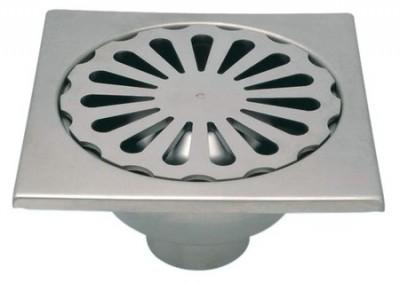 Siphon inox 300x300mm diamètre 100mm