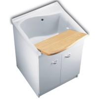 Bac à laver LAGO 75x61cm blanc PORCHER