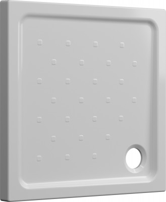 Receveur à poser SEDUCTA 2 extra-plat blanc 80x80cm