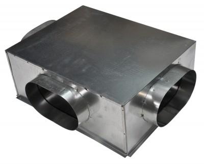 Plénum en acier galvanisé 500x400mm 3x200mm BAILLINDUSTRIE