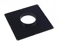 Plaque de connexion cheminée concentrique 33 noir diamètre 100/150mm