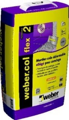 WEBER.COL FLEX2 gris allégé 15kg