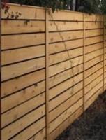 Lames de clôture H  ajourée 28x120 Sapin du Nord DEBARGE