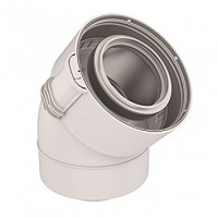 Coude 45° 60/100 PPTL/PVC blanc UBBINK
