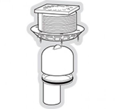 Kit grille pour siphon PMR revêtement carrelage NICOLL