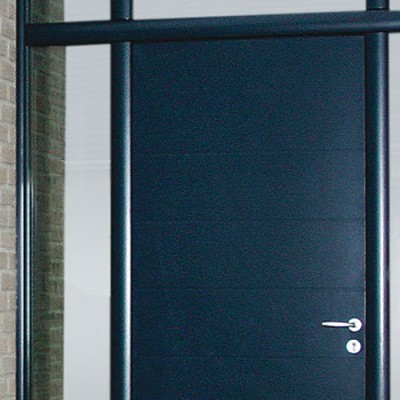 porte aluminium laqu bleu 2725x1000mm imposte compris cetih machecoul periers 50190. Black Bedroom Furniture Sets. Home Design Ideas