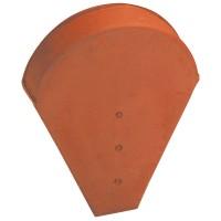 Fronton petit modèle pour faitière demi-ronde et conique IMERYS