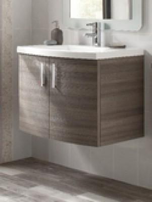 el ment sous vasque dune 2 portes ceruse gris largeur 70cm merignac 33701 d stockage habitat. Black Bedroom Furniture Sets. Home Design Ideas