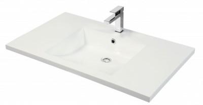 Plan vasque DUNE verre gris droit