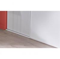 Rails haut+bas apparence frêne blanc largeur 360cm