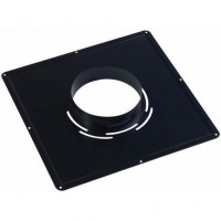 Plaque de propreté 400x400mm noir