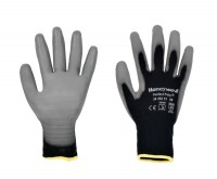 Gants PERFECT FIT POLY BLACK taille 10 sachet de 10 unités HONEYWELL