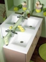 Plan SEDUCTA 121cm double vasque blanc
