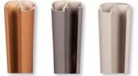 Poteau aluminium grand vent gris métal 70x70x1240mm