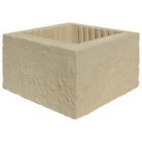 Elément de pilier structure 40x40x16,7cm ton pierre WESER
