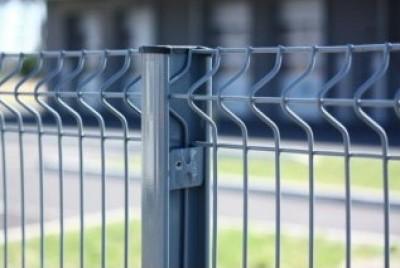 Poteau H EASYCLIP plus système clip profil 66x50x1.20mm galva plastifié gris 1600x1600mm