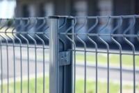 Poteau H EASYCLIP plus système clip profil 66x50x1.20mm galva plastifié gris 2200x2200mm