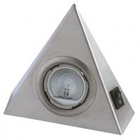 Kit 3 spots triangulaires inox avec interrupteur