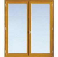 Fenêtre Classic pin 2 vantaux à clé lasure 24 OB 135x100cm