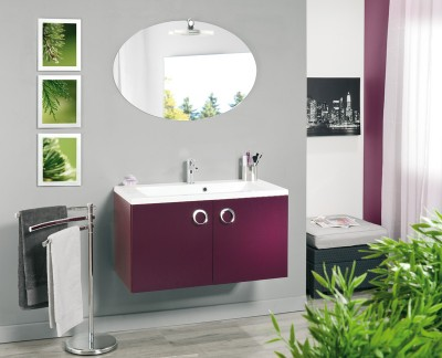 meuble sous vasque seducta 60 cm 2 portes aubergine woippy 57146 d stockage habitat. Black Bedroom Furniture Sets. Home Design Ideas
