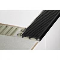 Profile de marche TREP-S aluminium 26mm gris 2.5m hauteur 10mm